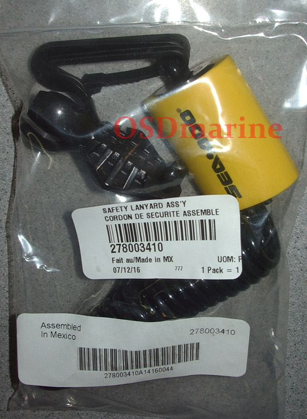 SAFETY LANYARD ASS'Y (MAGNETIC ONLY) (SEA DOO 278003410)