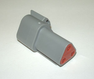 AMPHENOL (DEUTSCH) RECEPTACLE CONNECTOR - 3 PIN (TRIANGULAR)