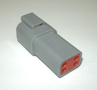 AMPHENOL (DEUTSCH) RECEPTACLE CONNECTOR - 4 PIN