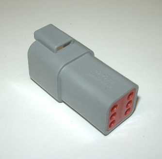 AMPHENOL (DEUTSCH) RECEPTACLE CONNECTOR - 6 PIN