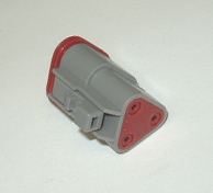 AMPHENOL (DEUTSCH) PLUG CONNECTOR - 3 PIN (TRIANGULAR)