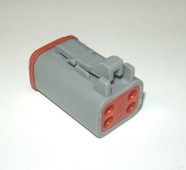 AMPHENOL (DEUTSCH) PLUG CONNECTOR - 4 PIN