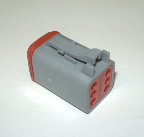 AMPHENOL (DEUTSCH) PLUG CONNECTOR - 6 PIN