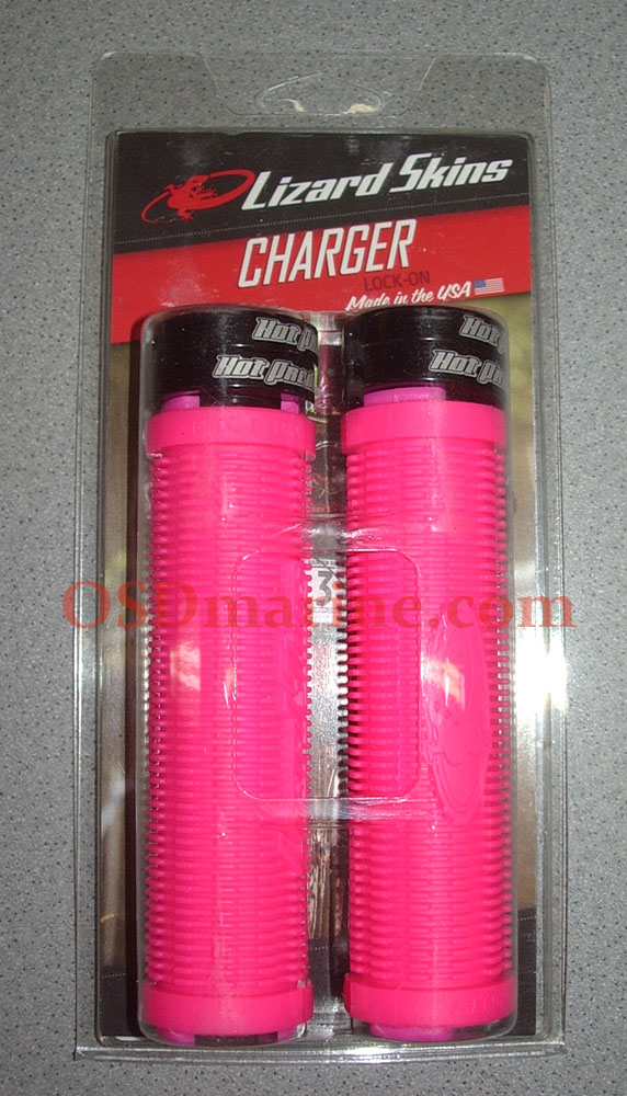 LIZARD SKINS GRIPS - CHARGER Lock On (130mm) - PINK