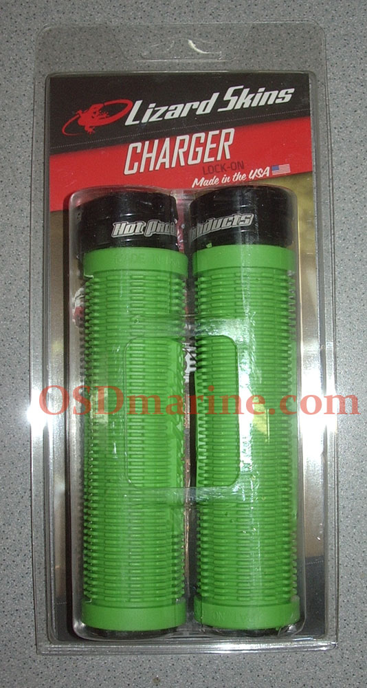 LIZARD SKINS GRIPS - CHARGER Lock On (130mm) - NEON GREEN