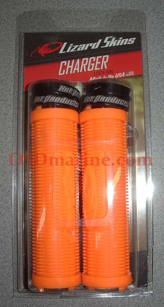 LIZARD SKINS GRIPS - CHARGER Lock On (130mm) - TANGERINE