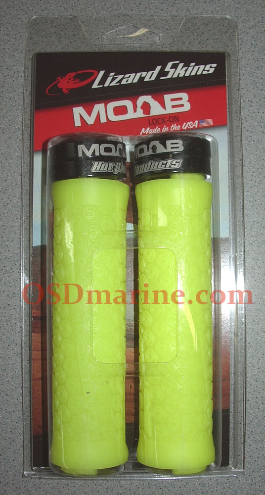 LIZARD SKINS GRIPS - MOAB Lock On (130mm) - NEON YELLOW