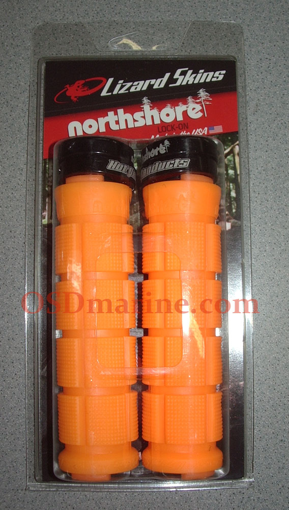 LIZARD SKINS GRIPS - NORTHSHORE Lock On (130mm) - TANGERINE