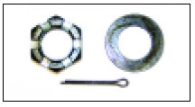 "Spindle Nut - 1"" / Washer / Cotter Pin"