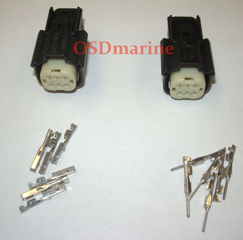 Molex MX150 Waterproof Connector Kit - 6 Pin