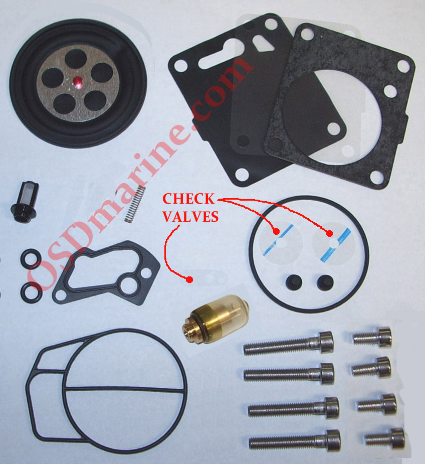 "OSD ""Back To OEM"" Sea Doo Single Carb Rebuild Kit (1997 717)"