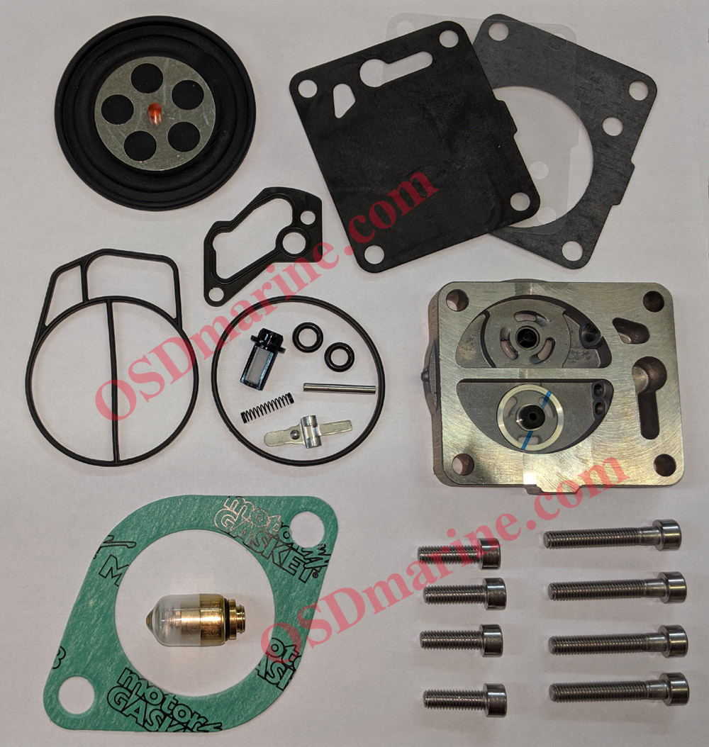 "NEW! OSD ""BTO"" + FUEL PUMP Sea Doo Single Carb Rebuild Kit (Some 1999-2005 717)"