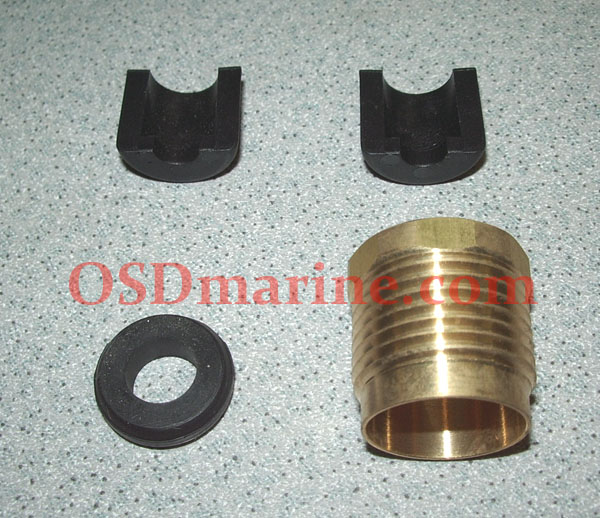OSD Sea Doo Half Ring KIT w BRASS Cable Lock! - 1995-2011 PWC & Boats