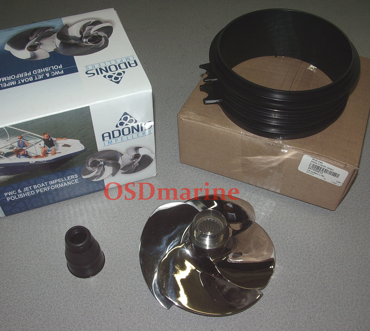 OSDmarine Sea Doo SPARK Adonis Impeller (90 HO) & FREE OEM Wear Ring Deal!