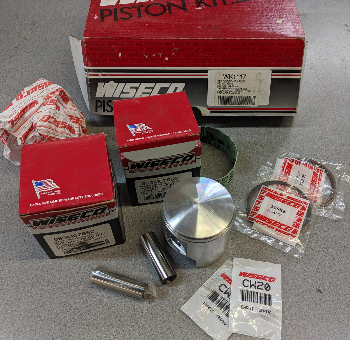 NOS WISECO 650 657 TOP END PISTON KIT (78.5mm)