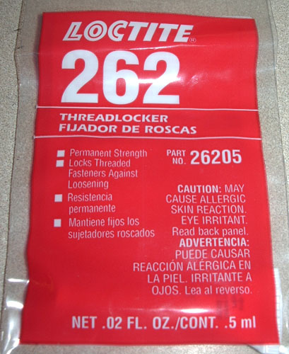 "LOCTITE 262 ""RED"" THREAD LOCKER - 0.5ML"