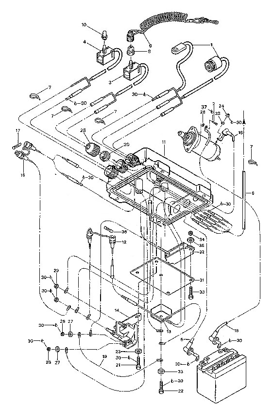ski doo electrical diagram