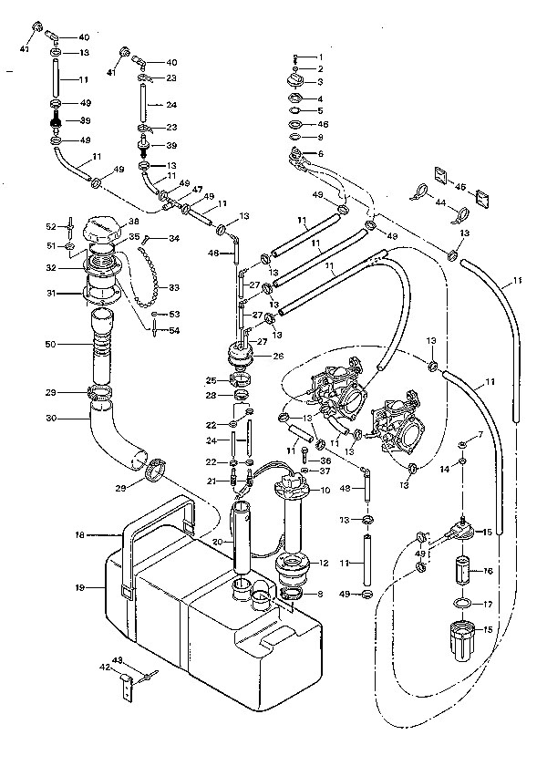 1991spxpfuelsystem 1991 sp xp osd marine sea doo yamaha kawasaki polaris tigershark seadoo wiring diagram at readyjetset.co