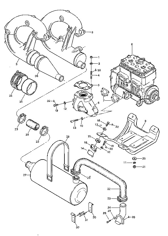 1998 ski doo engine parts diagram