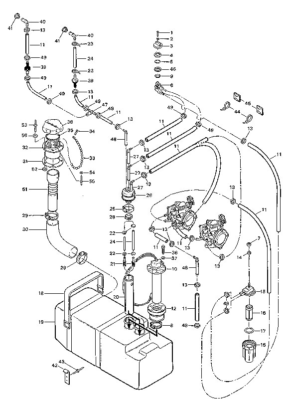 1992spxpfuelsystem 1992 sp xp osd marine sea doo yamaha kawasaki polaris tigershark 1992 seadoo gtx wiring diagram at bakdesigns.co