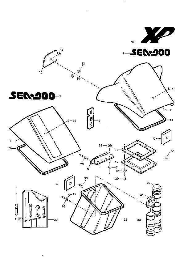 1992 Sp Xp Sea Doo Yamaha Kawasaki Polaris Parts