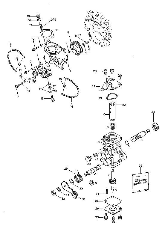 mikuni oil pump diagram