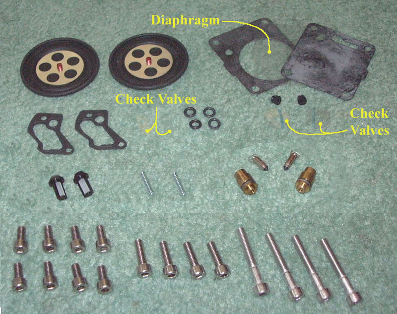 OSD Yamaha PWC Dual Carb Rebuild Kit #1 - For 1995-2008 700cc